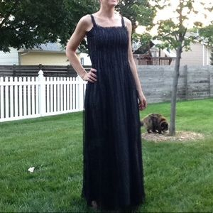 nwt BLANK beaded tulle gown S (A4)